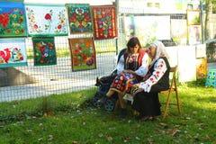 Mulheres ucranianas - mestres Borispol fotografia de stock