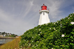 Mulholland Point Lighthouse, Campobello Island (Canada) Stock Photography