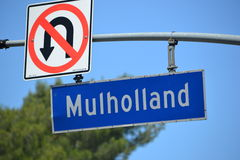 Mulholland Sign Stock Image
