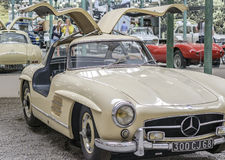 MULHOUSE – AUGUST 08:  Vintage car display at the Cité de l'Automobile: Motor Show on August 08, 2015 in Mulhouse Stock Image