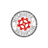Mulhouse city stamp Stock Images