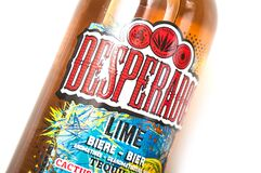 Desperados Bier Lemon Bottles On White Background Desperados Is The Famous Brand Of Mexican Bier With Tequila Editorial Image Image Of Closeup Label 174442755