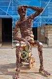 Skinless metal man Stock Photo