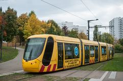 Tramway station in Zup quarter, the terminus of the line number two Stock Photo