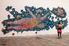 MULHOUSE - Frankreich - 4. Mai 2015 - abstrakte Graffiti auf der Wand Stockfoto