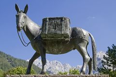 Muli monument in Mittenwald Royalty Free Stock Photography