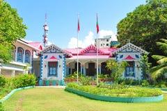 Muliaage, la residencia de los presidentes de los Maldivas Imágenes de archivo libres de regalías