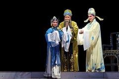 Mulian drama av aktören för kinesQi opera Arkivbild