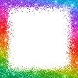 Mulicolor glitter border frame on white background. Vector. Multicolor glitter border frame on white background. Vector illustration Stock Photography