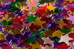 Mulicolored stars stock photography