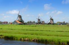 Mulini di vento in Zaanse Schans Fotografie Stock Libere da Diritti