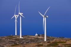 Mulini a vento fotografie stock libere da diritti