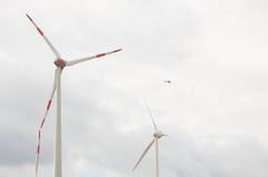 Mulini a vento ad alba Fotografie Stock Libere da Diritti