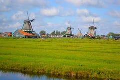 Mulini a vento a Amsterdam Fotografia Stock