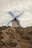 Mulini a vento antichi in La Mancha Immagine Stock