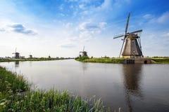 Mulini a vento del patrimonio mondiale dell'Unesco Fotografia Stock