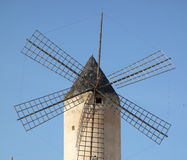 Mulini a vento del ` s di Mallorca fotografie stock libere da diritti