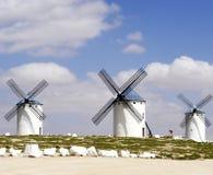 Mulini a vento di Campo de Criptana fotografie stock libere da diritti