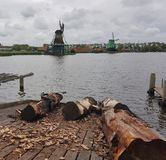 Mulini a vento di Haanse Schans Fotografia Stock Libera da Diritti