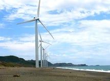 Mulini a vento di Ilocos Fotografie Stock