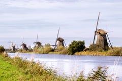 Mulini a vento di Kinderdijk Immagini Stock