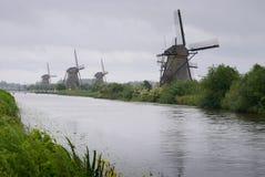 Mulini a vento di Kinderdijk Fotografia Stock Libera da Diritti