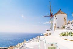 Mulini a vento di OIA, Santorini Fotografie Stock Libere da Diritti