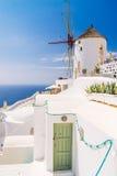 Mulini a vento di OIA, Santorini Fotografia Stock