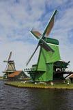 Mulini a vento di Zaanse Schans, Paesi Bassi Immagini Stock Libere da Diritti