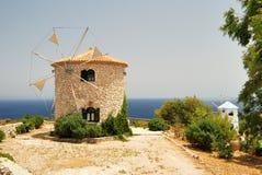 Mulini a vento greci Immagine Stock Libera da Diritti