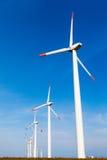Mulini a vento il giorno soleggiato Fotografia Stock