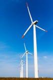 Mulini a vento il giorno soleggiato Fotografia Stock Libera da Diritti