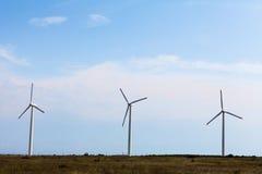 Mulini a vento il giorno soleggiato Immagini Stock Libere da Diritti