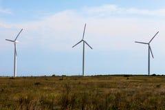 Mulini a vento il giorno soleggiato Immagine Stock Libera da Diritti