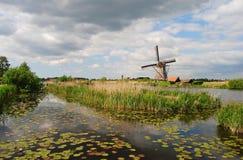 Mulini a vento in Kinderdijk Fotografie Stock Libere da Diritti