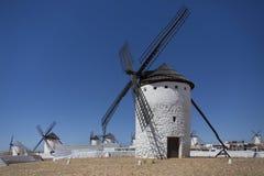 Mulini a vento - La Mancha - Spagna Immagini Stock Libere da Diritti