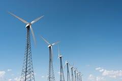 Mulini a vento nel cielo Fotografia Stock Libera da Diritti