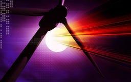 Mulini a vento nell'obiettivo Fotografia Stock