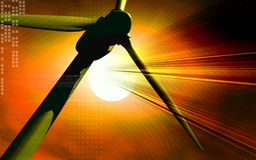 Mulini a vento nell'obiettivo Immagine Stock Libera da Diritti