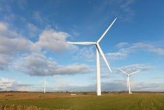 Mulini a vento nella palude danese Fotografia Stock