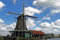 Mulini a vento in Olanda Fotografie Stock