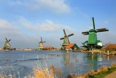 Mulini a vento olandesi Immagini Stock Libere da Diritti