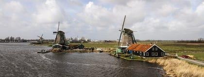 Mulini a vento olandesi Immagini Stock