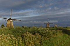 Mulini a vento olandesi Fotografie Stock