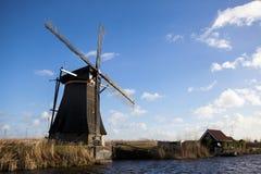 Mulini a vento olandesi, Olanda, estensioni rurali Mulini a vento, il simbolo dell'Olanda Fotografia Stock Libera da Diritti