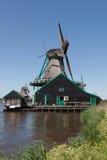 Mulini a vento olandesi tradizionali Fotografia Stock Libera da Diritti
