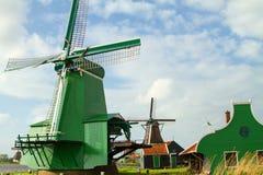 Mulini a vento olandesi tradizionali Immagine Stock Libera da Diritti