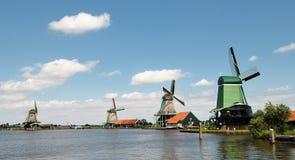 Mulini a vento olandesi Zaandam Immagine Stock