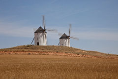 Mulini a vento in Spagna Fotografia Stock