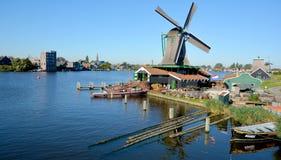 Mulini a vento storici di Zaanse Schans Immagini Stock Libere da Diritti
